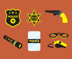 Police Equipment Vector