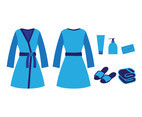 Bathrobe element collection vector