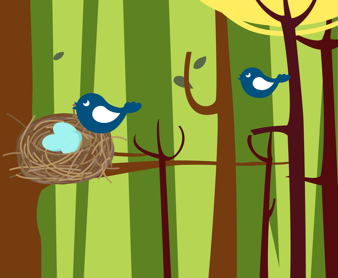Nest cartoon simple vector