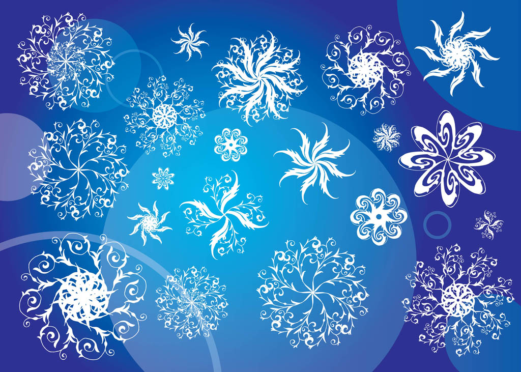 Free Vector Snowflakes