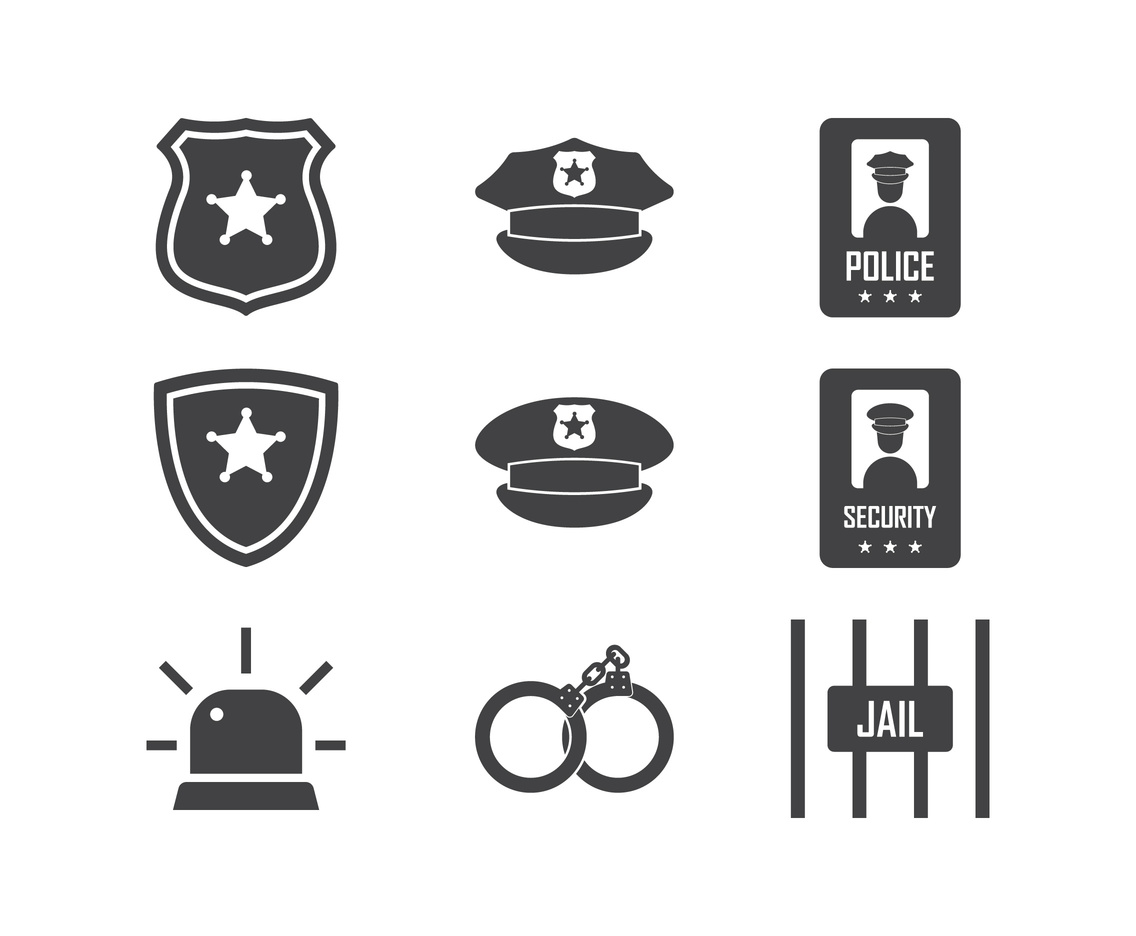 Police and Security Vector Icons