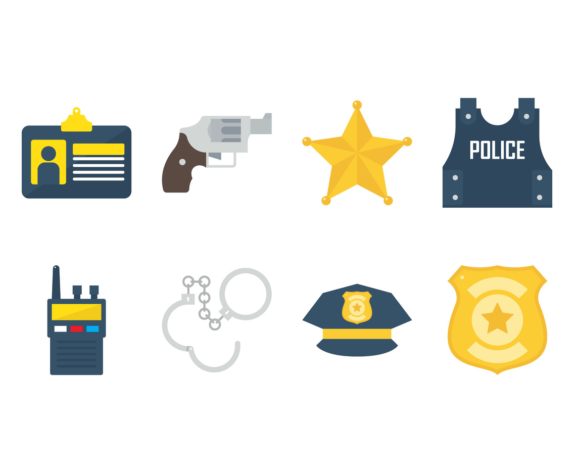 Flat Police Icons