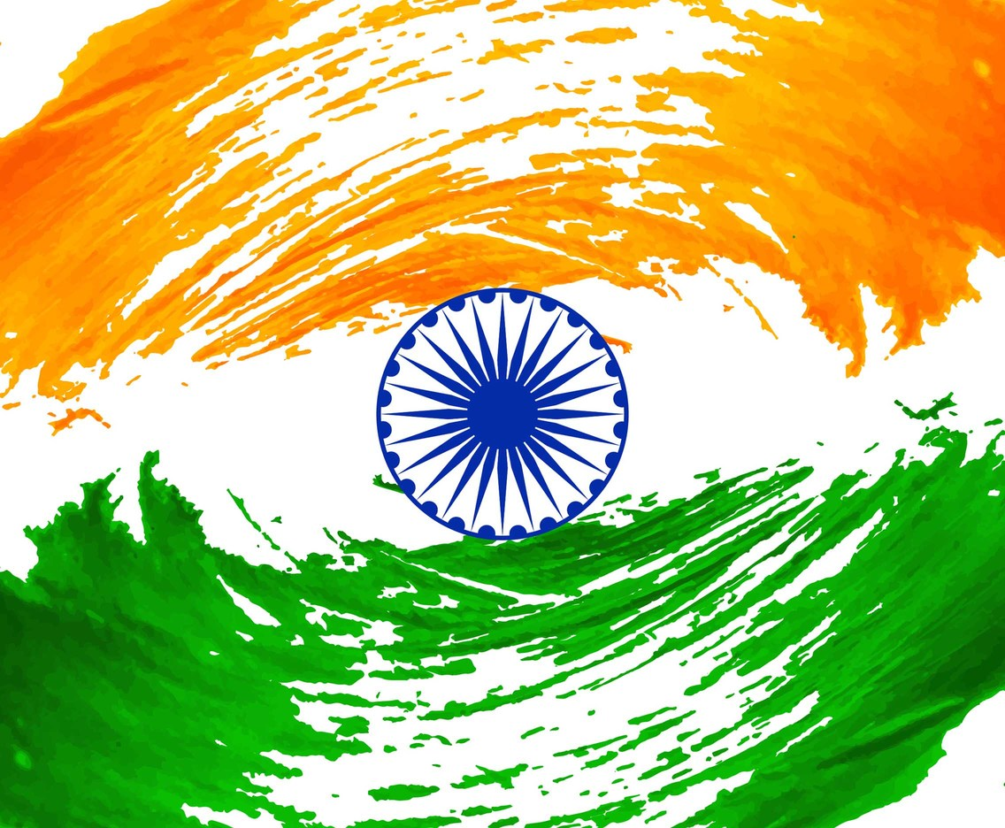 Free Vector Modern Indian Flag Background