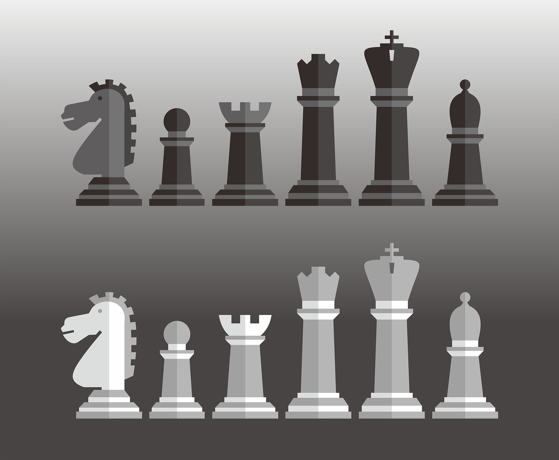 Chess Pieces Vector Set