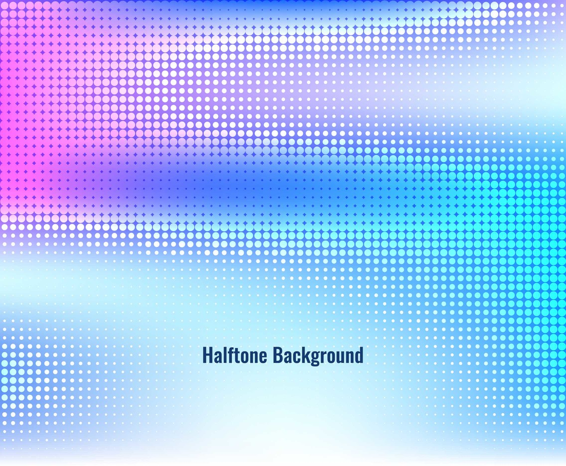 Free Vector Colorful Haftone Background