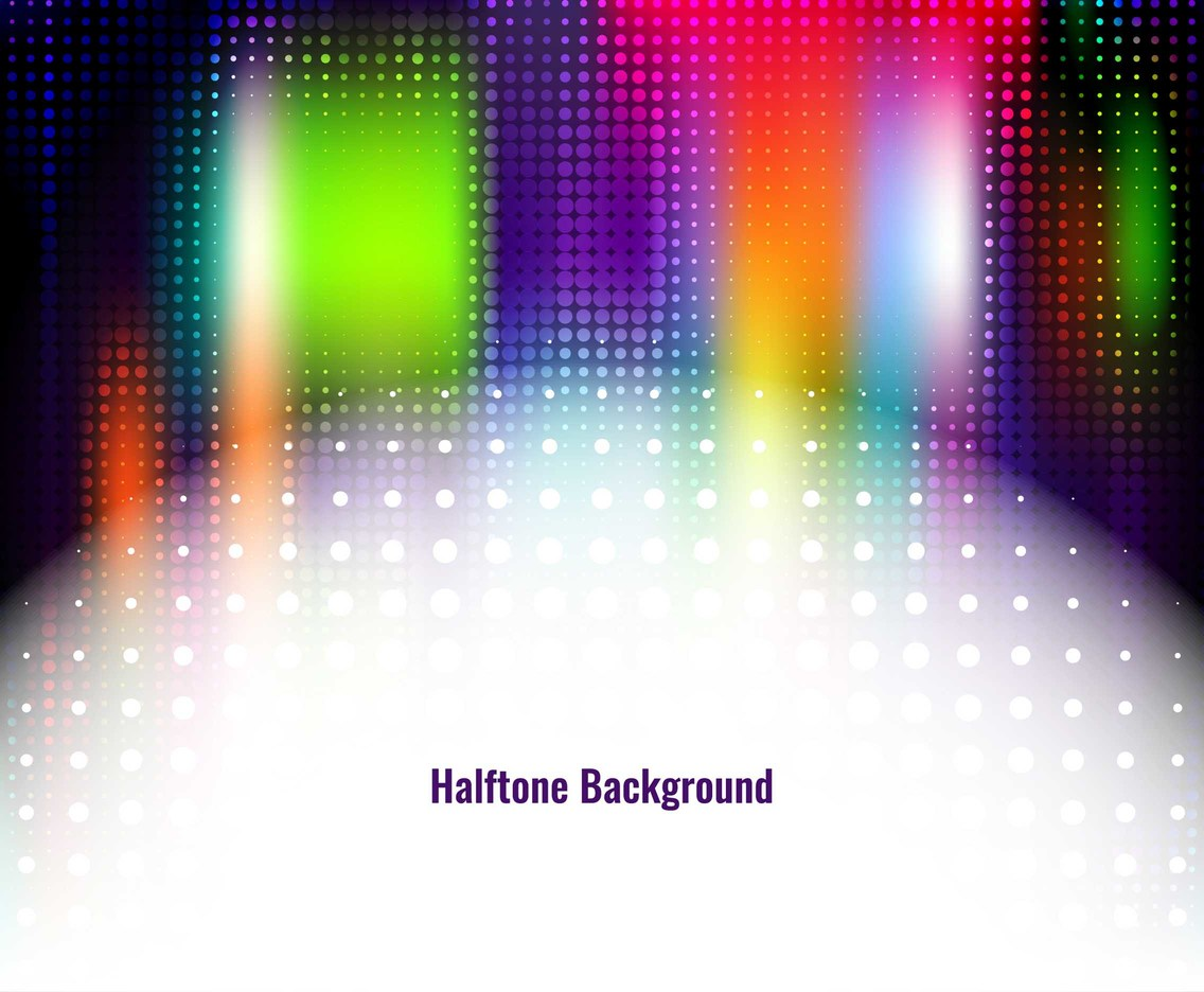 Free Vector Colorful Halftone Background