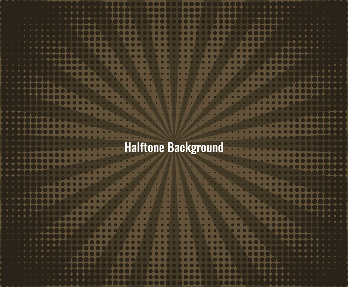 Free Vector Retro Halftone Background