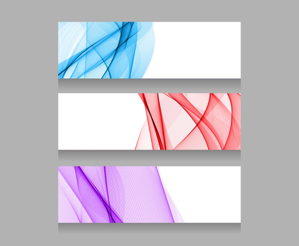 Free Vector Colorful Wave Headers