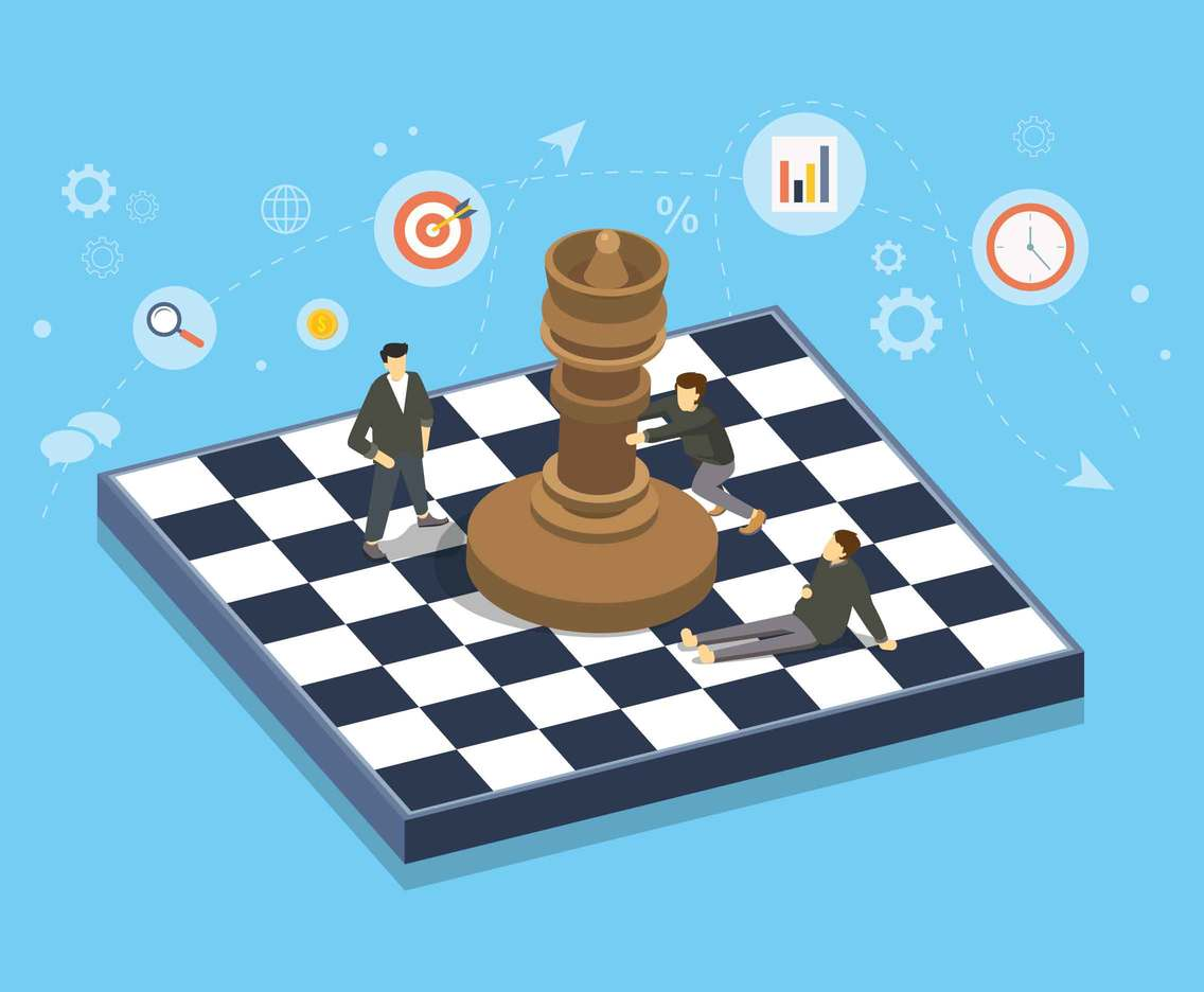 Business Chess Illustration