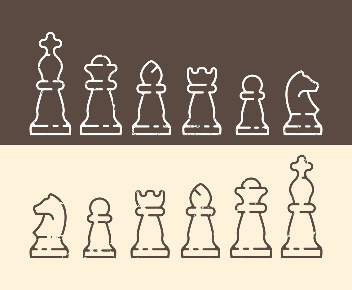 Linear Chess Icons