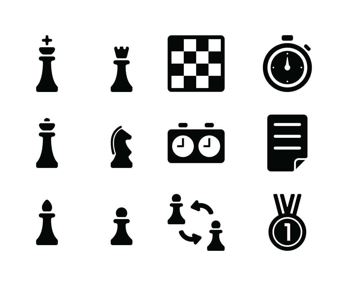 Black Chess Icons