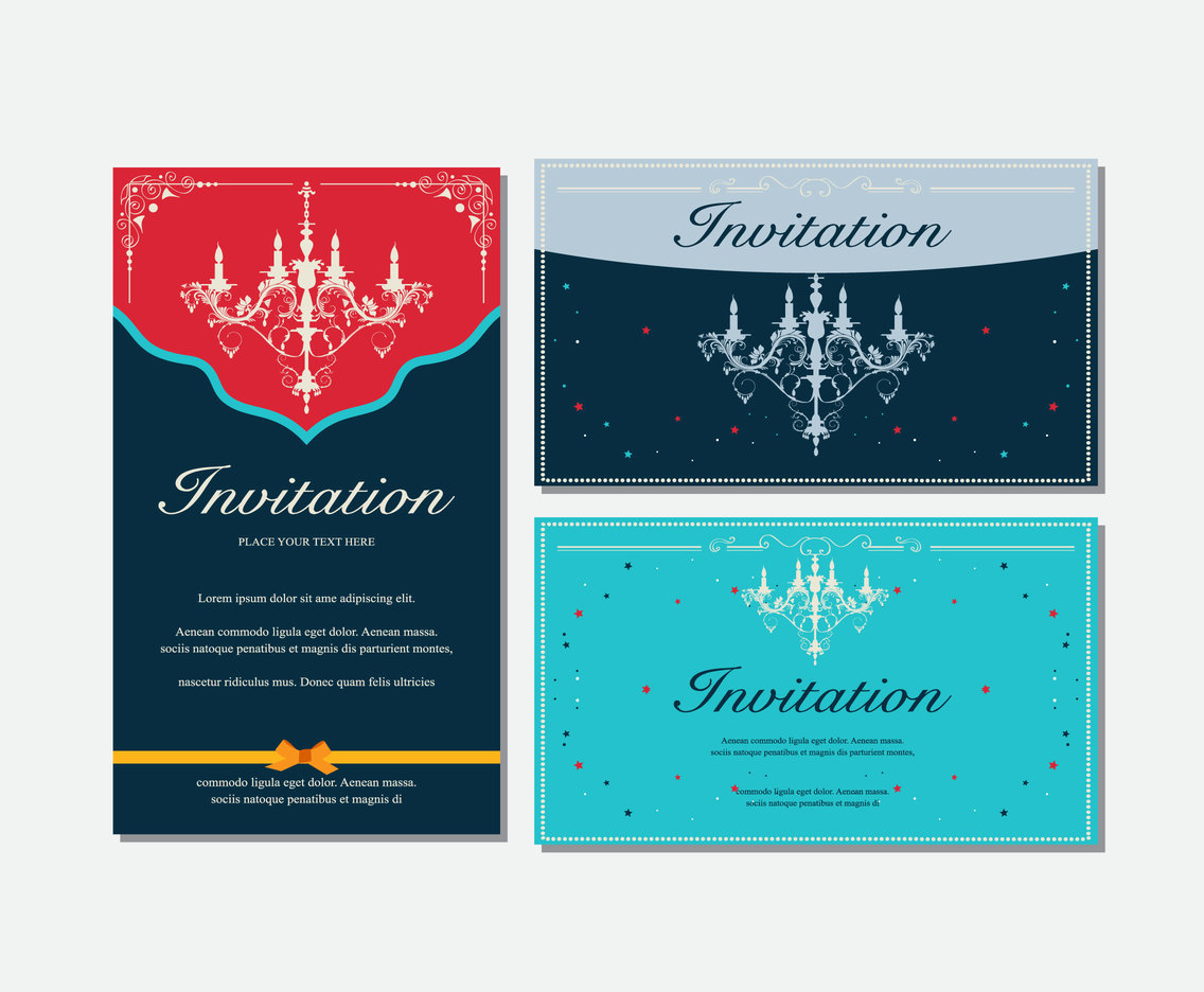 Chandelier invitation card
