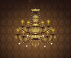 Vector background illustration of chandelier