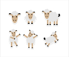 Cute Cartoon Sheep Sticker
