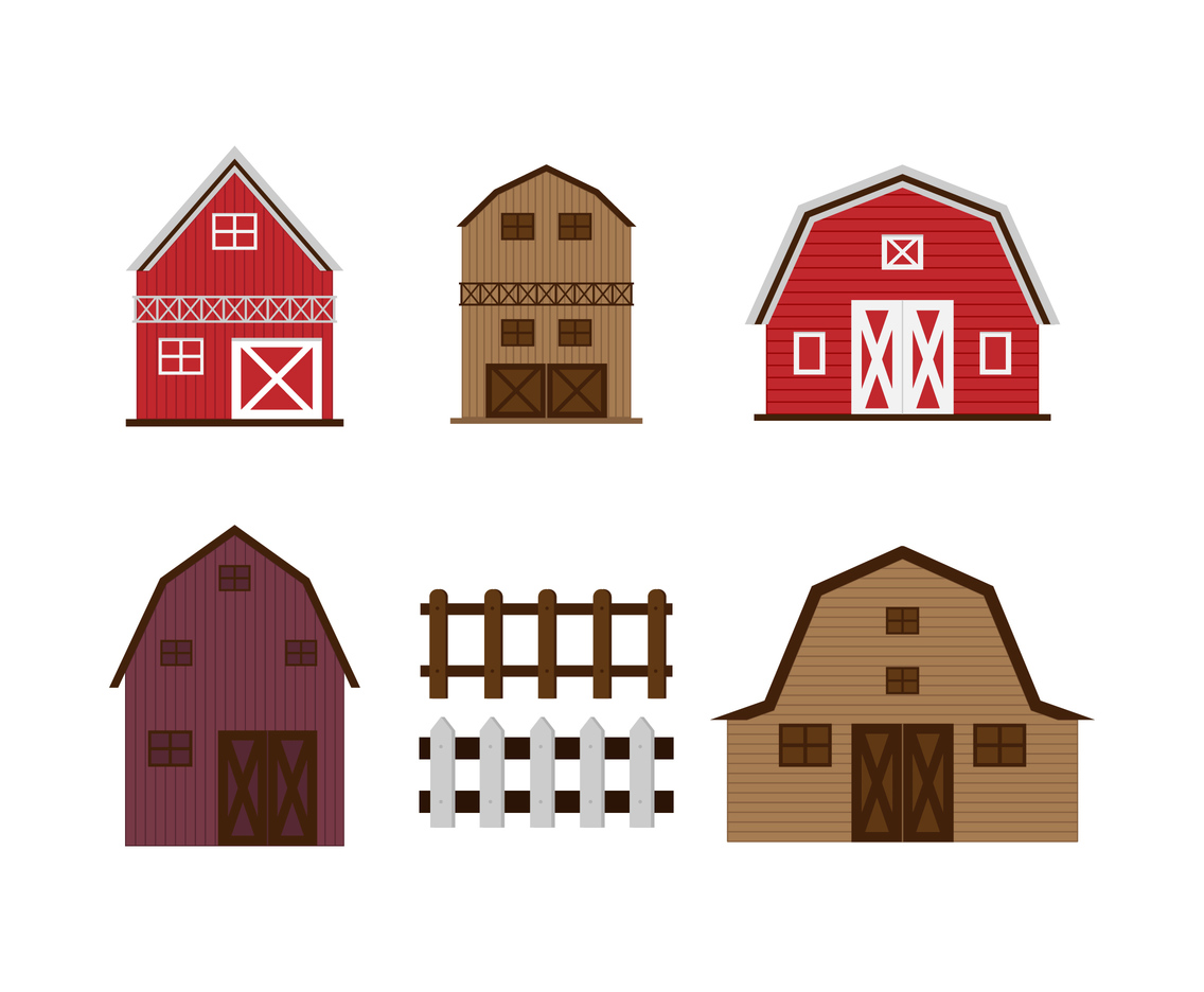 Barn Shapes Vector Set