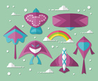 Cute Kite Vector Design