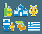 Greece Culture Element Vector Set