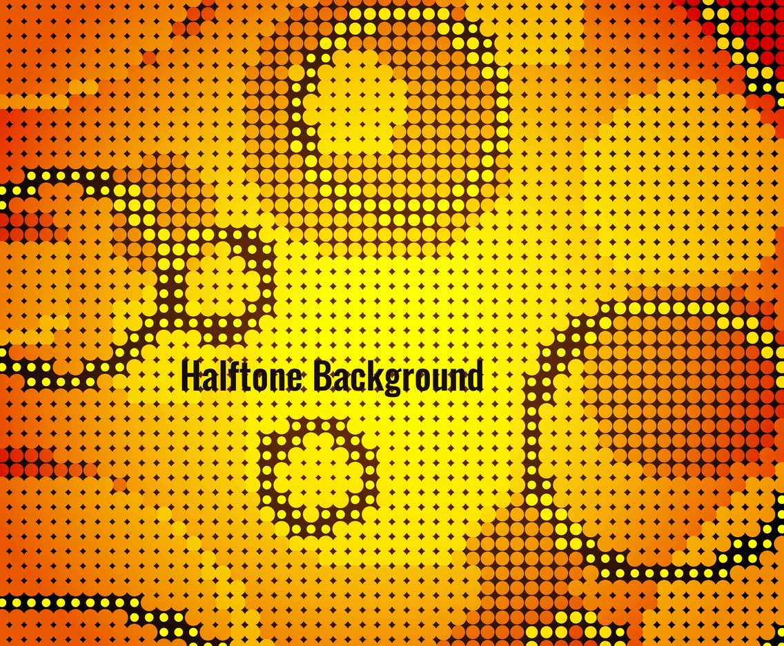 Free Vector Colorful Modern Halftone Background