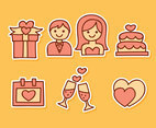 Hand Drawn Cute Wedding Element Vector