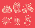 Wedding Element Doodle Vector