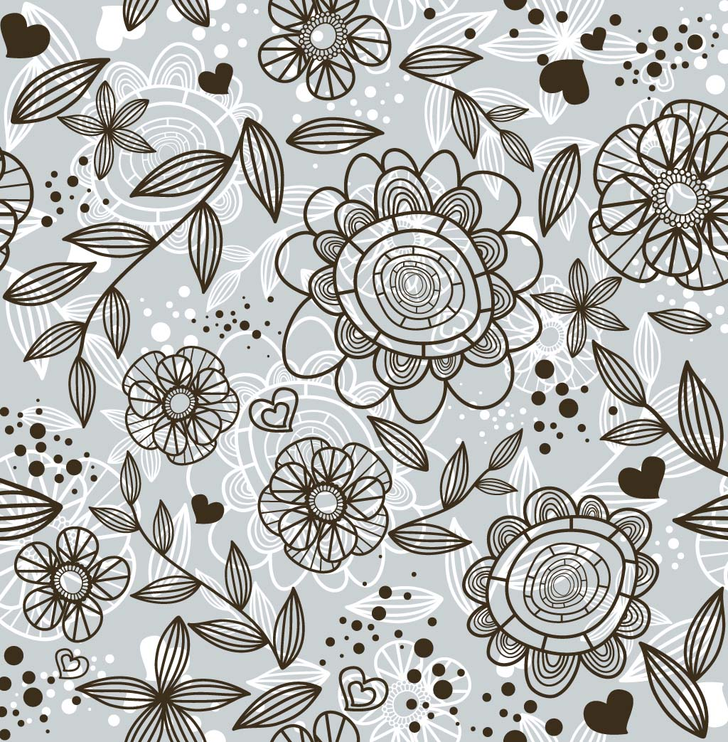 Flower Doodle Pattern Vector Art Graphics Freevector Com