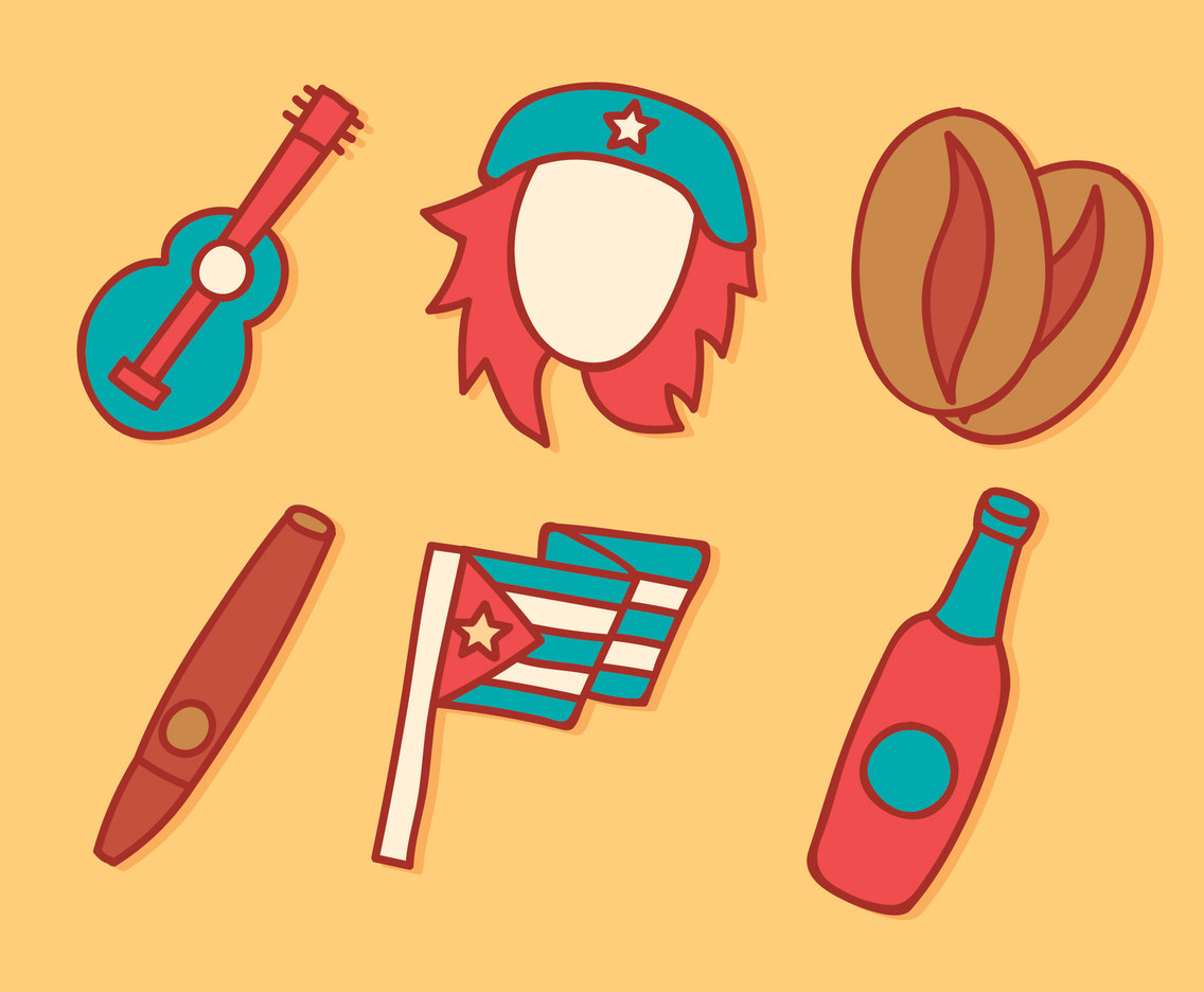Hand Drawn Cuba Element Vector