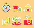 Traveling Element Icons Vecror Set