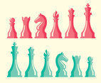 Chess Figure Collection Vector
