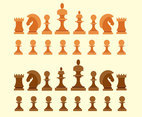 Big Set Chess Figures Vector