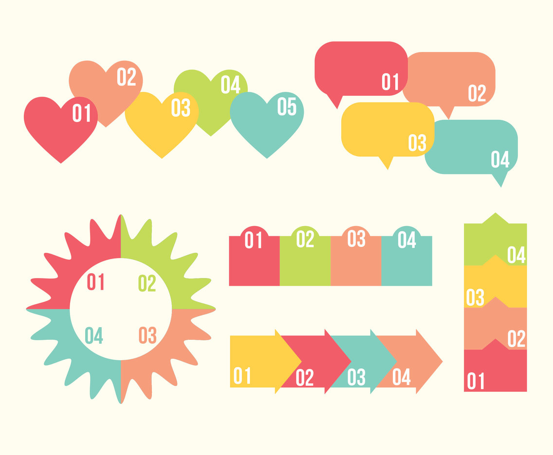Infographic Element Pastel Colors Vector