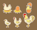 Hand Drawn Chicken Nest Vector
