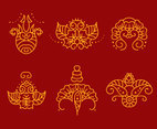 Henna Tattoo Collection Vector