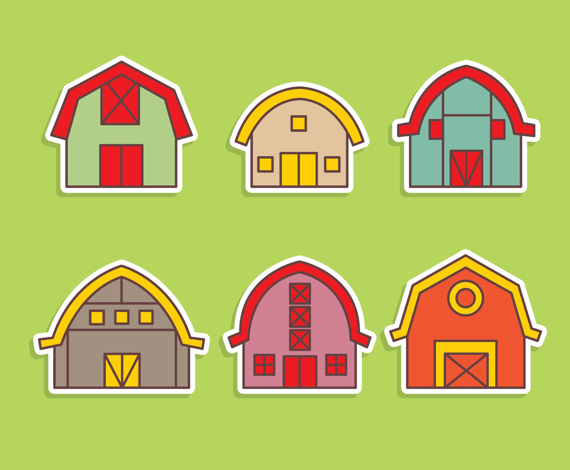 Nice Barn Vector Set
