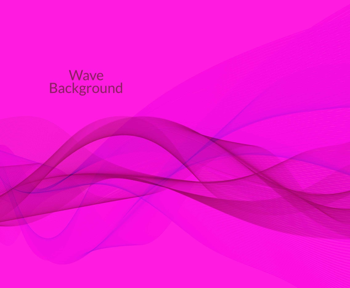 Free Vector Pink Wave Background