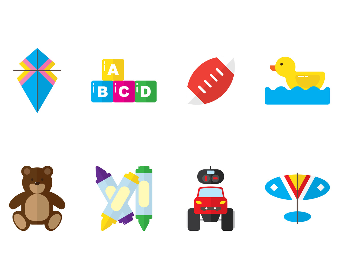 Kid Toys Icon Vector Art & Graphics | freevector.com