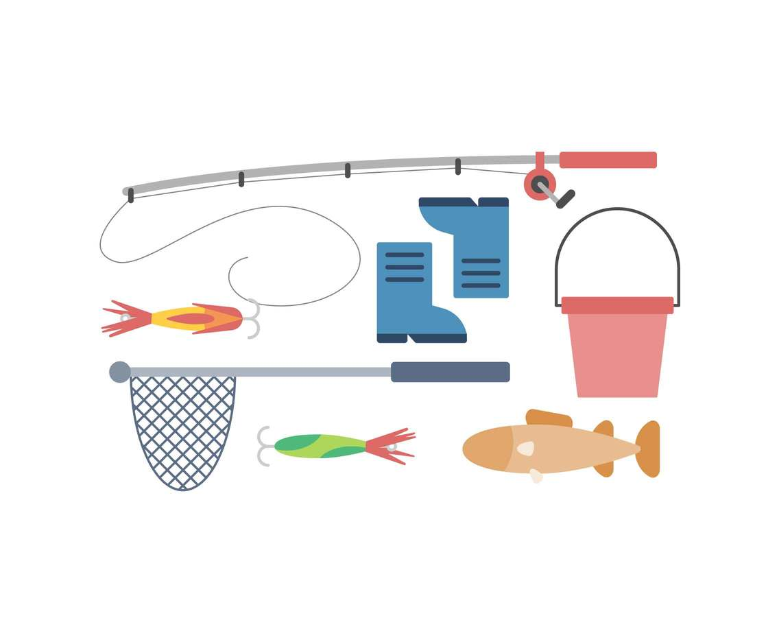 Fishing and Fish Net Vectors