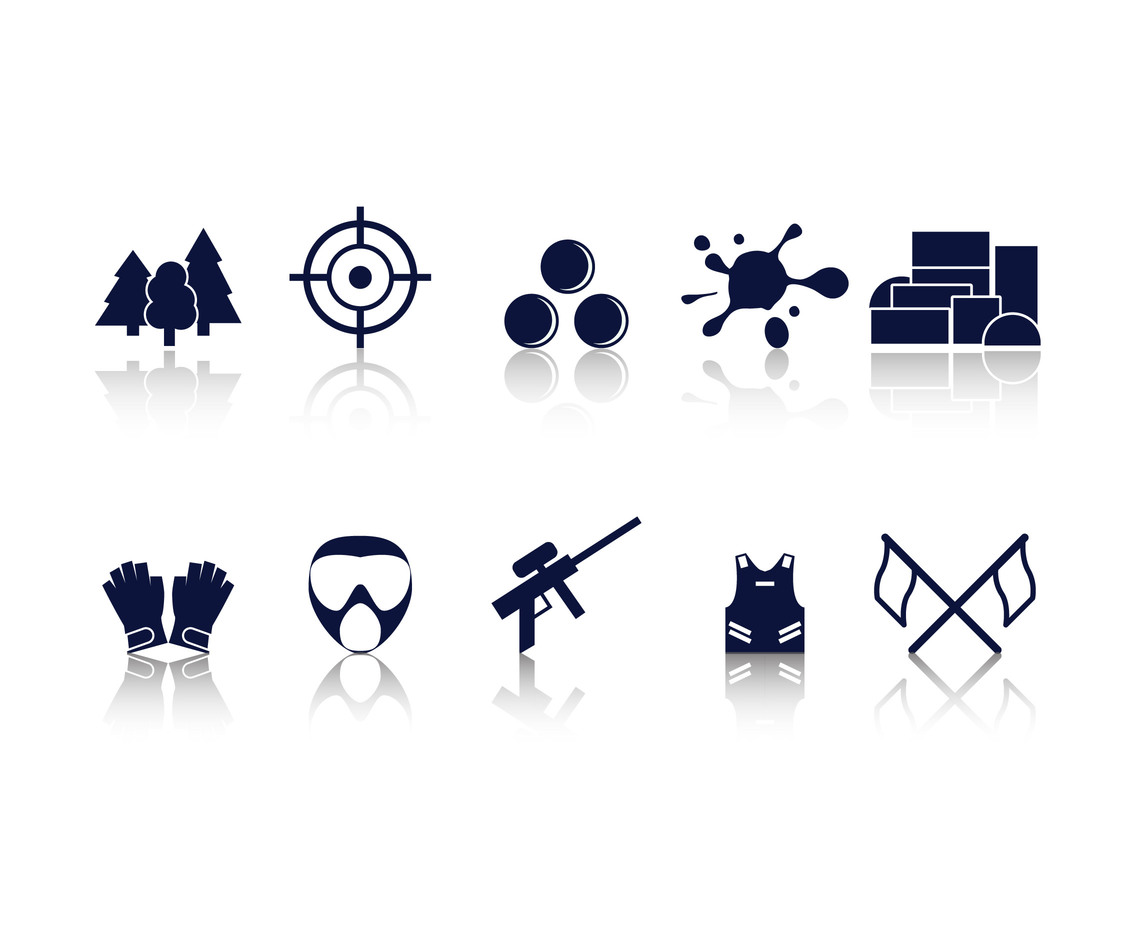Paintball Icon Vectors