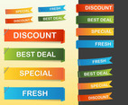 Glossy Web Banners Vectors