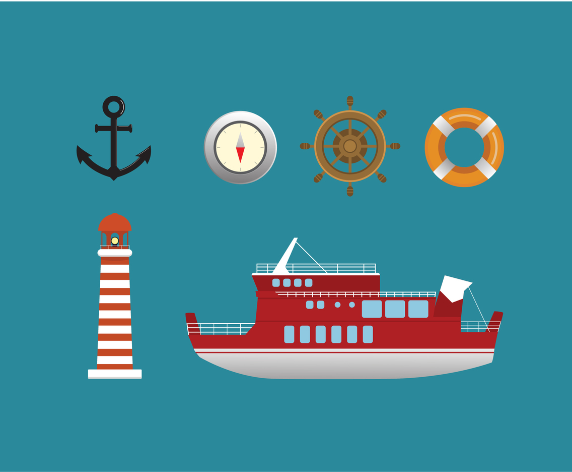 Nautical Icon Vector Set