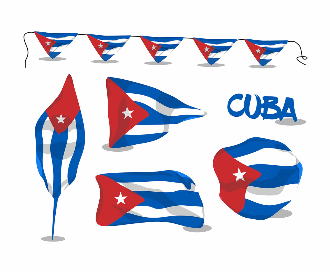 Flags of Cuba Vector Design