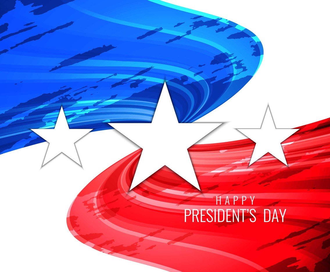 Free Vector President's Day Wavy Background