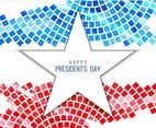 Free Vector President's Day Mosaic Background