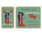 Bride wedding invitation card