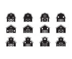 Barn silhouette icon vector