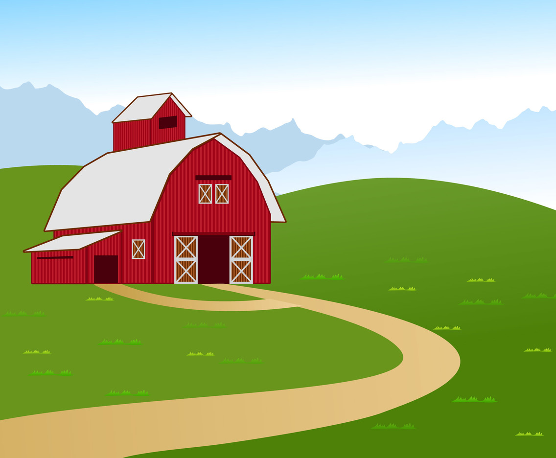Vector illustration of barn farm