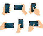 Cellphone on Hand Vectors