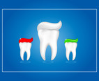 Dental toothpaste illustration