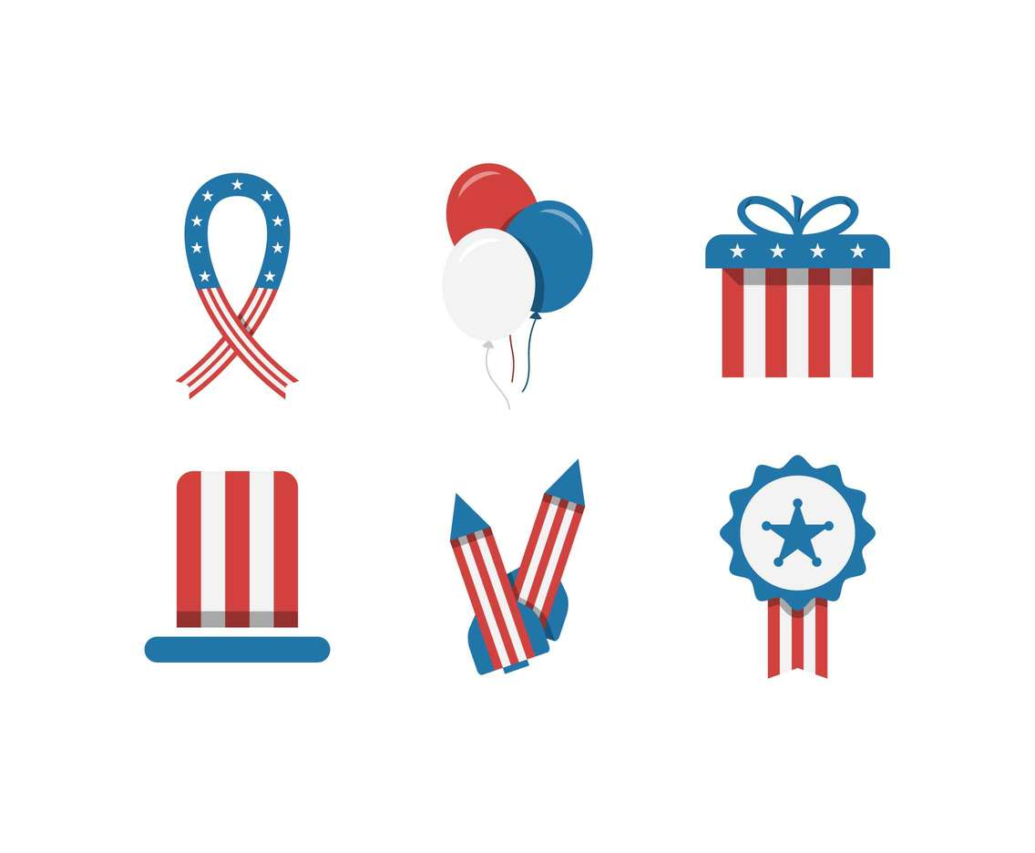 Free Independence Day Decoration Vectors