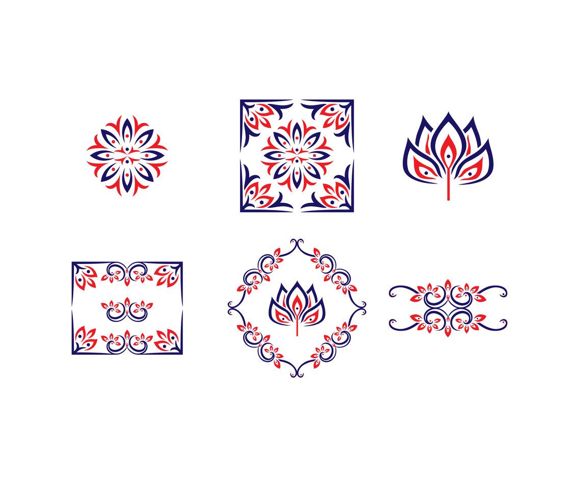 Thai Ornament Vector Set