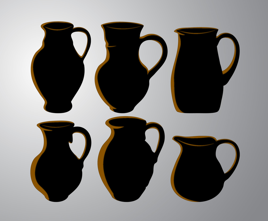 Silhouette Clay Jug